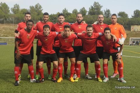 Alineació titular davanr el CF Balaguer
